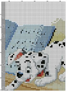 Dalmatian Dogs Cross Stitch Pattern #8