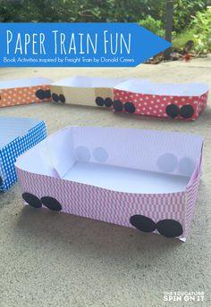 Paper Train Tutorial for Kids to go with the popular picture book Freight Train by Donald Crews.