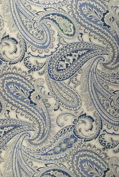 MONTREAL (W) - INDIGO          Stock # : 97852  Width : 58  Vertical Repeat : 30.50   Horizontal Repeat : 29.00   Fabric Contents : 100% POLYESTER   Soil & Stain Repellent : N  Beads : N  National Exclusive : N   Flame Retardant : N  Sample Book : World Bazaar Paisley Art, Paisley Fabric, Fabric Rug, Paisley Design, Floral Pattern Wallpaper, Fabric Wallpaper, Batik Pattern, Paisley Pattern, Textile Design