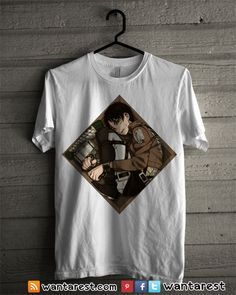 #AttackOnTitan #ShingekiNoKyojin #Eren #Rivaille #Mikasa #anime #otaku #shirt Unisex t-shirts Only $17 ship to worldwide, available size S to 2XL.