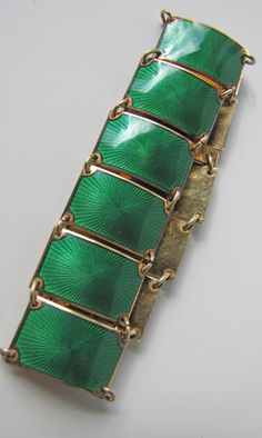 David Anderson Norway Enamel Bracelet. Sterling by MercyMadge
