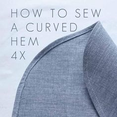 Sewing Techniques Couture How to sew a curved hem? Well it depends! I've made a few videos explaining different techniques for sewing around curves Sew a curved hem using a stitched guideline works well on the more narrow hems Sewing Lessons, Sewing Blogs, Sewing Hacks, Sewing Tutorials, Sewing Tips, Sewing Ideas, Video Tutorials, Pattern Drafting Tutorials, Sewing Crafts