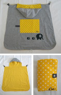 Un cape Elephant – Les chiffonneries du chat Baby Sewing Projects, Sewing For Kids, Couture Bb, Kangaroo Baby, Baby Carrier Cover, Baby Staff, Diy Bebe, Felt Fabric, Baby Kind