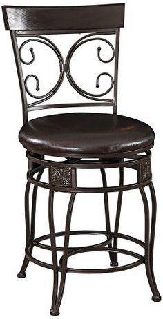 Billings brown swivel counter bar stool for Homemakers furniture memorial day sale