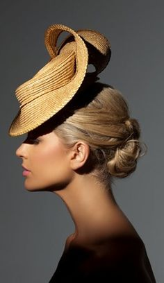 Richard Nylon Millinery, 'Miranda' - Couture Headwear. Model: Sophie Van Den Akker. Photo: Brett Goldsmith.