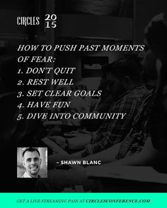 """""""@shawnblanc kicked off #Circles2015 with an amazing talk about how to fight to stay creative. It was a brilliant reminder to be intentional about our…"""""""