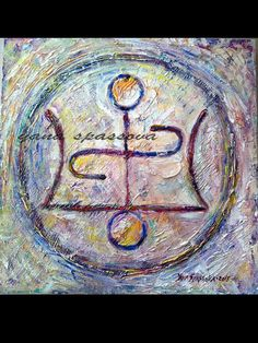 Old pagan symbol for LOVE.Orenda symbol connect the energy of the Universe with your intention for change.Most important gift to me is the personal symbol - the sacred geometry of your personal time. It is made of oil on canvas, varnished. The picture is by measures 11.9 inches (30 cm) square block with canvas stretched over it and stapled on the edges. All paintings are original and there are no duplicates, so you will own the only copy! Please message me with any questions or comments. ...