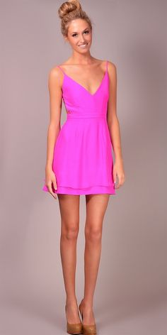 LOVE THIS! colour, style, everything- it is a perfect little barbie dress! would love to wear with soft blonde waves and nude pumps!
