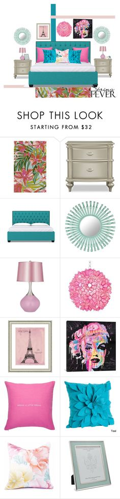 """""""Spring Fever Bedroom"""" by modern-glam-designs on Polyvore featuring interior, interiors, interior design, home, home decor, interior decorating, Surya, Florence Broadhurst, Worlds Away and Vintage Print Gallery"""