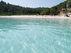Such a beautifully clear sea - photo's can't do it justice. Greece Vacation, Greece Travel, Exotic Beaches, Sea Photo, Travel Memories, Greek Islands, Weekend Getaways, Outdoor Spaces, Places Ive Been
