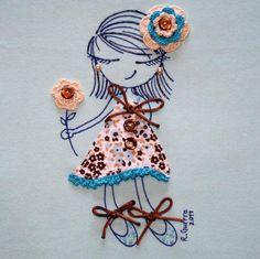 """Camiseta """"Ro-ro"""" vestido de flores / Día tras Día - Artesanio"""