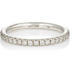Zoe Women's White Diamond & Platinum Eternity Band (£3,175) ❤ liked on Polyvore featuring jewelry, rings, no color, pave band ring, platinum jewellery, pave ring, platinum eternity ring and round ring