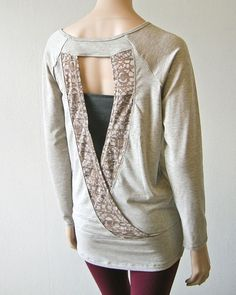 Lolë Suddhi Top - Beige Mix. Show off your back!
