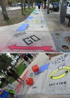Real life Monopoly - http://www.viralbuzzspot.com/real-life-monopoly/