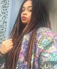 Her hair. Twists, Nattes Twist Outs, Beautiful Dreadlocks, Dreadlock Hairstyles, African Braids, Natural Hair Inspiration, Black Girls Hairstyles, Crown, Hair Goals