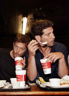 Jon Bernthal & Norman Reedus. Someone please bring me both! ~ I just died! Two hot tamales!
