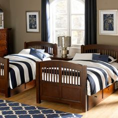 25 Best Blue And White Striped Bedding Images Bedrooms Bed Room