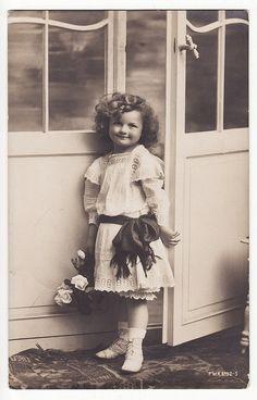Adorable Little Girl Vintage Postcard by Carol Anne's Boutique, via Flickr