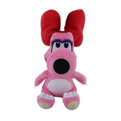 Nintendo - Super Mario Plush Birdo is a recurring character in the Mario series. In fact, there have been multiple characters known as Birdo, similar to the multiple Yoshis that have appeared throughout history. The concept of a Birdo char Super Mario All Stars, Super Mario World, Super Mario Bros, Donkey Kong, Luigi, Nintendo, Retro Video Games, Plush Dolls, Toy Store