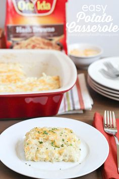 Delicious & Easy Potato Casserole - the perfect side dish for Easter brunch or any meal of the week! #shop