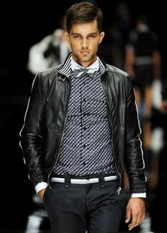 dapper as fk Leather Fashion, Leather Men, Leather Jacket, Mens Fashion, Moda Casual, Cool Style, My Style, Well Dressed Men, Gq