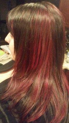 Pravana red highlights