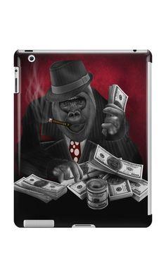 mafia gorilla iPad snap,retina skin, mini, Cases & Skins #ipadcase #ipad #ipadskin #animal #chimpanzee #ape #monkey #gorilla #music #funky #Guitarist #selfie #photographers #circus