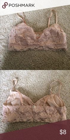 Lace bralette Lightly worn. No padding, light weight. Fits up to a 34B. Intimates & Sleepwear Bras