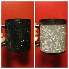 It lights up when you put coffee in the mug:)
