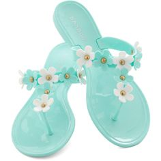 As Daisy Goes By Sandal (€18) ❤ liked on Polyvore featuring shoes, sandals, blue, blue sandals, synthetic shoes, flat shoes, flat heel shoes and flats sandals