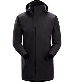 Parsec Coat Men's Three-quarter length, brushed interior windproof waterproof/breathable GORE-TEX® soft shell long coat