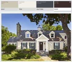 Exterior Home Renovation Ideas to Increase the Curb Appeal of Your Home - Ribbons & Stars Grey Exterior, House Paint Exterior, Exterior Paint Colors, Exterior House Colors, Paint Colors For Home, Bungalow Exterior, Siding Colors, Cottage Exterior, Paint Colours