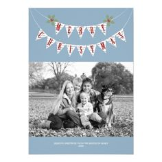 Rustic Banner - Christmas Photo Card