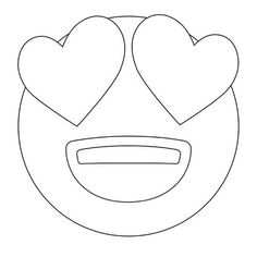 emoji coloring pages | Heart Eyes Emoji Coloring Sheets Coloring Pages