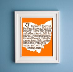 Bowling Green  Forward Falcon Print by KenmoreHouse on Etsy, $12.00 want this for my future classroom <3