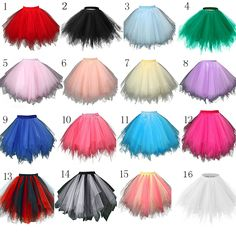 In Stock Multi Colored Short Petticoat Tulle Crinoline 2016 Hot Sale Underskirt For Girl Cheap Wedding Accessories SA941