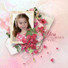 Layout using {Sweet Valentine} Digital Scrapbook Kit by Eudora Designs available at PBP   https://www.pickleberrypop.com/shop/manufacturers.php?manufacturerid=173