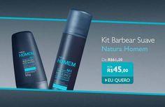 #redenaturasilviahelenamuller Kit Natura Homem Barbear Suave - Espuma de Barbear + Aquagel Pós-Barba - de R$ 61,20 por R$ 45,00. Promoção válida até o dia 01 de junho ou enquanto durarem os estoques para compras realizadas no site: http://rede.natura.net/espaco/silviahelenamuller/kit-natura-homem-barbear-suave-espuma-de-barbear-aquagel-pos-barba-pid48130?_requestid=657348