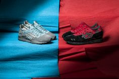 """***COMING SOON*** The Asics """"Bad Santa Pack"""" with the red-black Gel-Lyte III and the grey-turquoise Gel-Lyte V will be available at our shop soon! Release: 13.11.2015 