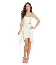 4c12a2d0f04 Available at Dillards.com  Dillards Teeze me sequin lace chiffon hi-low  dress