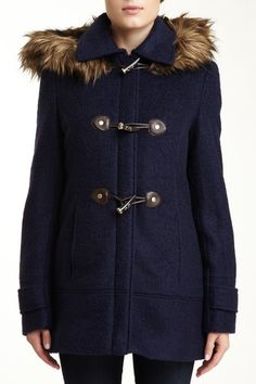 Calvin Klein Hooded Toggle Coat- I always wanted a coat that looked like this