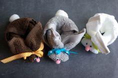 Зайчета от хавлиени кърпи | Art and Blog