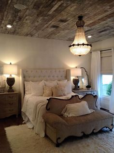 30 French Country Bedroom Design and Decor Ideas for a Unique and Relaxing Space - The Trending House Shabby Chic Bedrooms, Cozy Bedroom, Dream Bedroom, Bedroom Decor, Bedroom Ideas, Bedroom Romantic, Bedroom Furniture, Bedroom Ceiling, Headboard Ideas