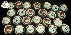 Cupcake frozen Olaf Anna Elsa