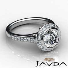 Round Diamond Engagement Stunning Ring EGL F VS2 Clarity 14k White Gold 1 8 Ct   eBay
