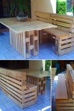 Pallet Table and Bench