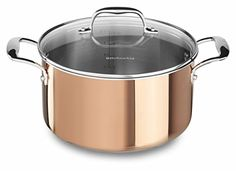 KitchenAid KCP60LCCP TriPly Copper 6Quart Low Casserole with Lid Cookware  Satin Copper -- See this great product.Note:It is affiliate link to Amazon.