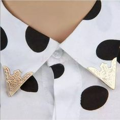 Brand new gold collar clips dapper unisex Brand new gold collar clips. These have never been worn and are in perfect condition. So cute and trendy. Anyone can wear them. ASOS Accessories
