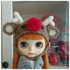 Custom order Only 5 available for now! #Blythe #Rudolph #christmas #xmas #Blythehat https://www.etsy.com/listing/471962892/blythe-hat-custom-order-rudolph