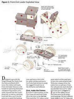 #2764 Wooden Front End Loader Plans - Wooden Toy Plans